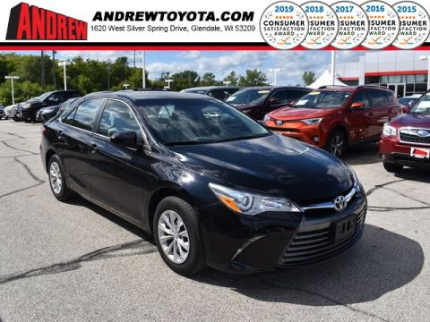 Stock #: TP10040 Black 2016 Toyota Camry LE 4D Sedan in Milwaukee, Wisconsin 53209