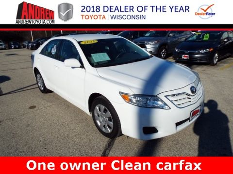 Stock #: 36844A White 2011 Toyota Camry LE 4D Sedan in Milwaukee, Wisconsin 53209