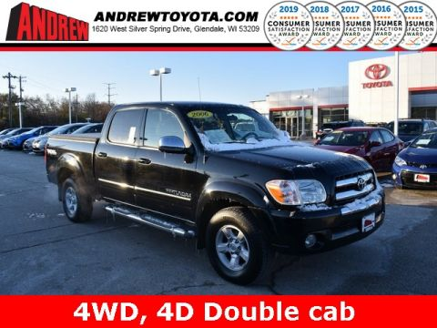 Stock #: 38602A Black 2006 Toyota Tundra SR5 4D Double Cab in Milwaukee, Wisconsin 53209