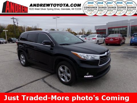 Stock #: 38308A Black 2015 Toyota Highlander Limited Platinum V6 4D Sport Utility in Milwaukee, Wisconsin 53209