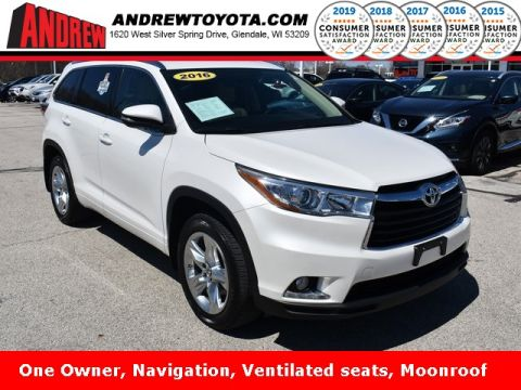 Stock #: TP9813 White 2016 Toyota Highlander Limited 4D Sport Utility in Milwaukee, Wisconsin 53209