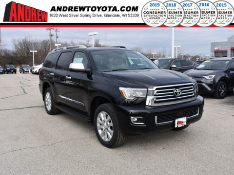 Stock #: 37809 Black 2019 Toyota Sequoia Platinum 4D Sport Utility in Milwaukee, Wisconsin 53209