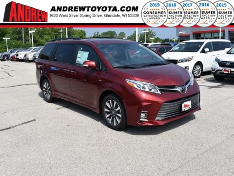 Stock #: 38339 Red 2020 Toyota Sienna Limited Premium 4D Passenger Van in Milwaukee, Wisconsin 53209