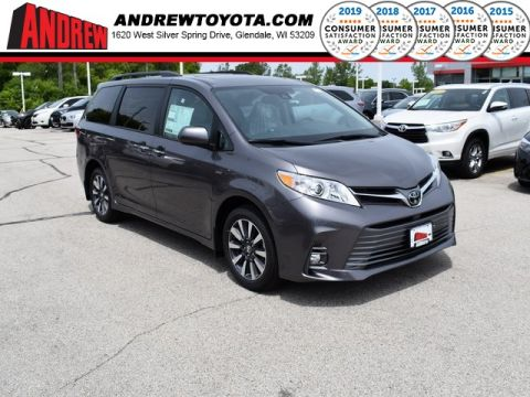 Stock #: 38199 Gray 2020 Toyota Sienna XLE 4D Passenger Van in Milwaukee, Wisconsin 53209