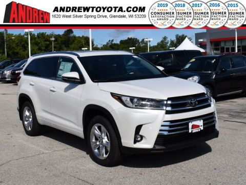 Stock #: 38498 Blizzard Pearl [extra_cost_color] 2019 Toyota Highlander Limited 4D Sport Utility in Milwaukee, Wisconsin 53209