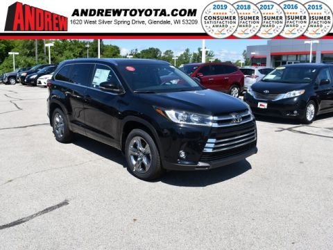 Stock #: 38255 Black 2019 Toyota Highlander Limited Platinum 4D Sport Utility in Milwaukee, Wisconsin 53209