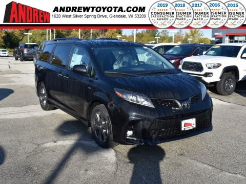Stock #: 38757 Black 2020 Toyota Sienna SE Premium 4D Passenger Van in Milwaukee, Wisconsin 53209