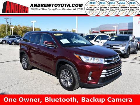 Stock #: 38052A DK.RED M.M. 2018 Toyota Highlander XLE 4D Sport Utility in Milwaukee, Wisconsin 53209