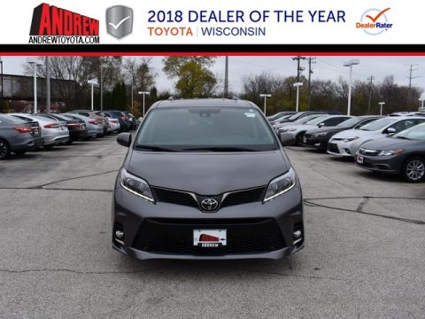 Stock #: 36915 Gray 2019 Toyota Sienna SE 4D Passenger Van in Milwaukee, Wisconsin 53209