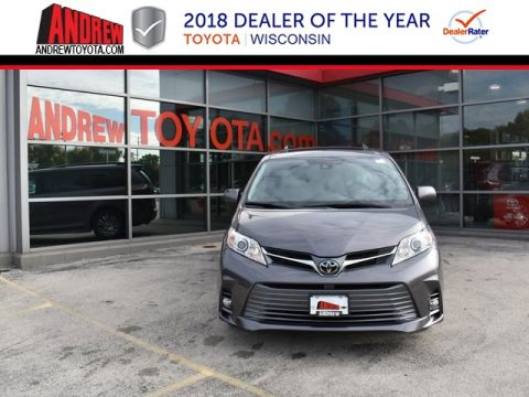Stock #: 37015 Gray 2019 Toyota Sienna XLE 4D Passenger Van in Milwaukee, Wisconsin 53209