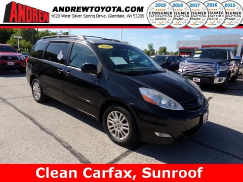 Stock #: 37561A Black 2008 Toyota Sienna XLE 4D Passenger Van in Milwaukee, Wisconsin 53209