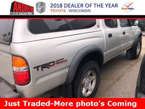 Stock #: 37243A Silver 2002 Toyota Tacoma Base 4D Double Cab in Milwaukee, Wisconsin 53209