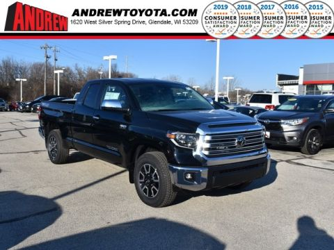 Stock #: 38931 Midnight Black Metallic 2020 Toyota Tundra Limited 4D Double Cab in Milwaukee, Wisconsin 53209