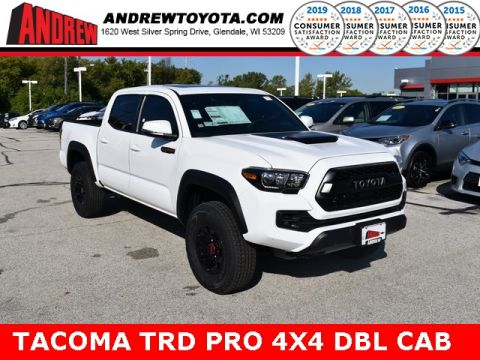 Stock #: 38671 Super White 2019 Toyota Tacoma TRD Pro 4D Double Cab in Milwaukee, Wisconsin 53209
