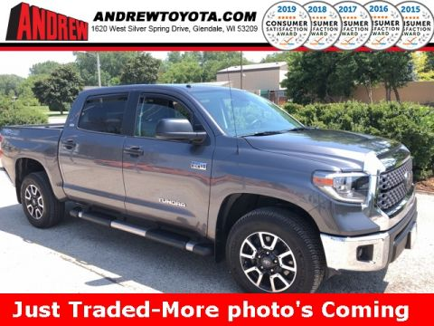Stock #: 38215A Gray 2018 Toyota Tundra SR5 4D CrewMax in Milwaukee, Wisconsin 53209