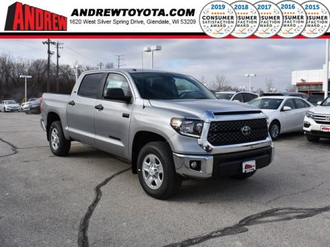 Stock #: 37416 Silver 2019 Toyota Tundra SR5 4D CrewMax in Milwaukee, Wisconsin 53209