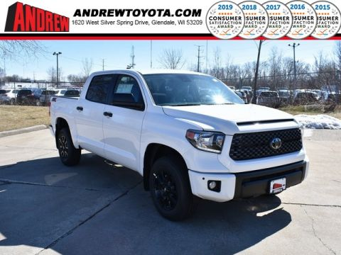 Stock #: 39379 Super White 2020 Toyota Tundra SR5 4D CrewMax in Milwaukee, Wisconsin 53209