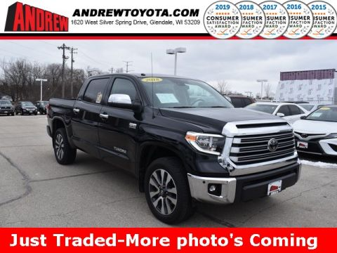 Stock #: 38910A Black 2018 Toyota Tundra Limited 4D CrewMax in Milwaukee, Wisconsin 53209
