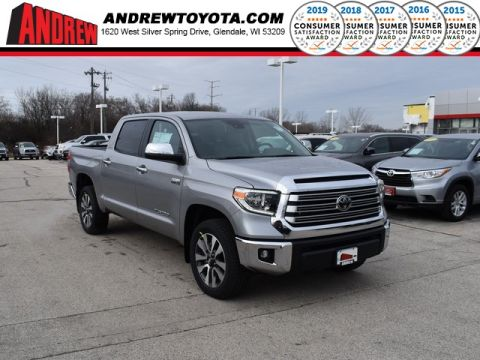 Stock #: 38922 Silver Sky Metallic 2020 Toyota Tundra Limited 4D CrewMax in Milwaukee, Wisconsin 53209