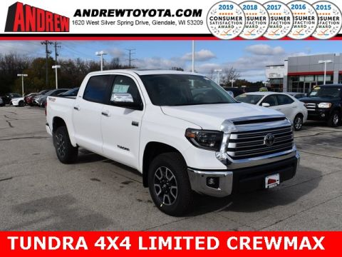 Stock #: 38793 Super White 2020 Toyota Tundra Limited 4D CrewMax in Milwaukee, Wisconsin 53209