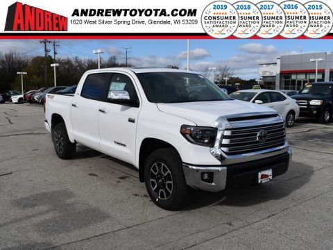 Stock #: 38793 White 2020 Toyota Tundra Limited 4D CrewMax in Milwaukee, Wisconsin 53209