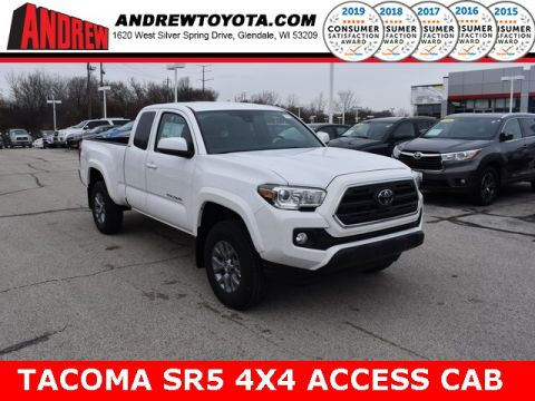 Stock #: 38889 Super White 2019 Toyota Tacoma SR5 4D Access Cab in Milwaukee, Wisconsin 53209