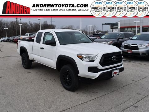 Stock #: 38992 Super White 2020 Toyota Tacoma SR 4D Access Cab in Milwaukee, Wisconsin 53209