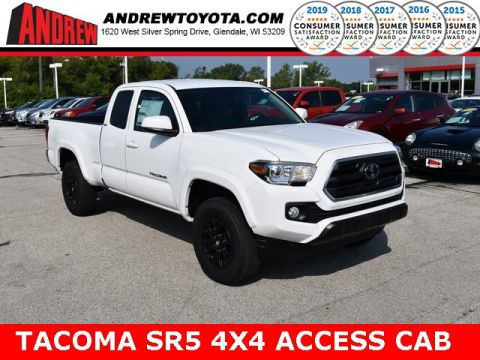 Stock #: 38585 Super White 2019 Toyota Tacoma SR5 4D Access Cab in Milwaukee, Wisconsin 53209