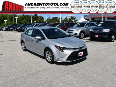 Stock #: 38507 Classic Silver Metallic 2020 Toyota Corolla LE 4D Sedan in Milwaukee, Wisconsin 53209