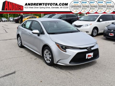 Stock #: 38025 Silver 2020 Toyota Corolla LE 4D Sedan in Milwaukee, Wisconsin 53209