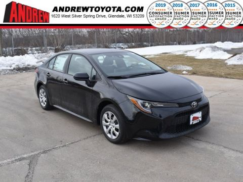 Stock #: 39173 Black Sand Pearl 2020 Toyota Corolla LE 4D Sedan in Milwaukee, Wisconsin 53209