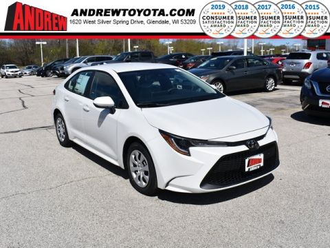 Stock #: 37967 White 2020 Toyota Corolla LE 4D Sedan in Milwaukee, Wisconsin 53209