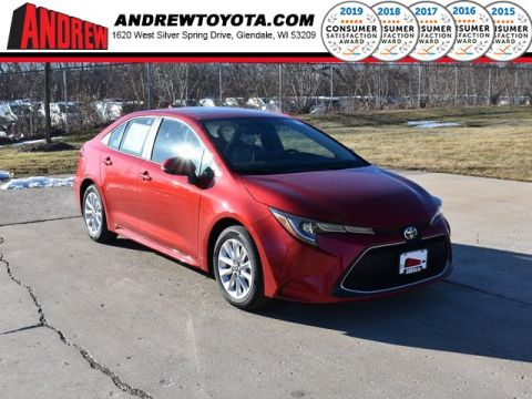 Stock #: 39047 Barcelona Red Metallic 2020 Toyota Corolla XLE 4D Sedan in Milwaukee, Wisconsin 53209