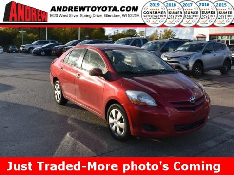 Stock #: 38735B Red 2007 Toyota Yaris Base 4D Sedan in Milwaukee, Wisconsin 53209