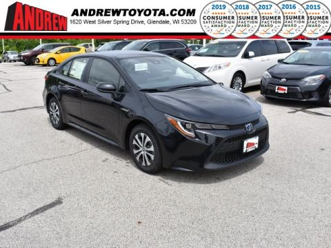 Stock #: 38053 Black 2020 Toyota Corolla Hybrid LE 4D Sedan in Milwaukee, Wisconsin 53209