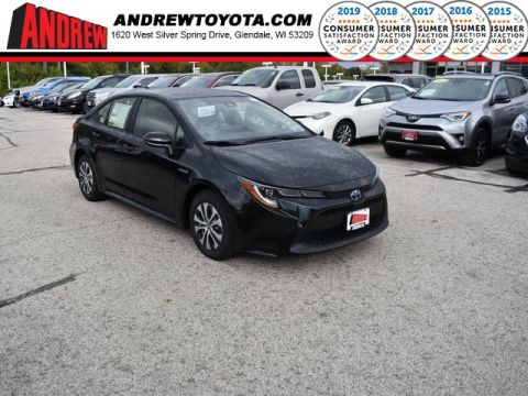 Stock #: 38709 Black 2020 Toyota Corolla Hybrid LE 4D Sedan in Milwaukee, Wisconsin 53209
