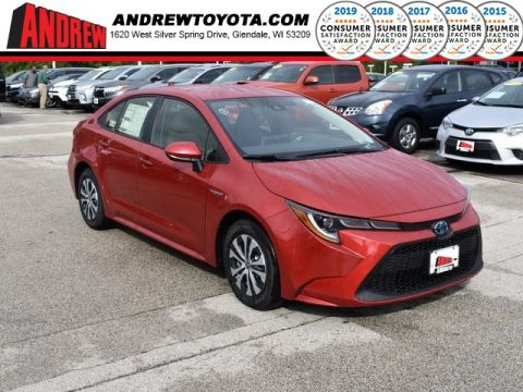 Stock #: 38680 Red 2020 Toyota Corolla Hybrid LE 4D Sedan in Milwaukee, Wisconsin 53209