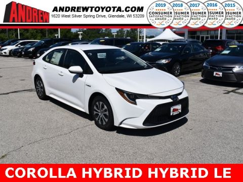 Stock #: 38464 Super White 2020 Toyota Corolla Hybrid LE 4D Sedan in Milwaukee, Wisconsin 53209