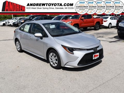 Stock #: 38513 Classic Silver Metallic 2020 Toyota Corolla LE 4D Sedan in Milwaukee, Wisconsin 53209