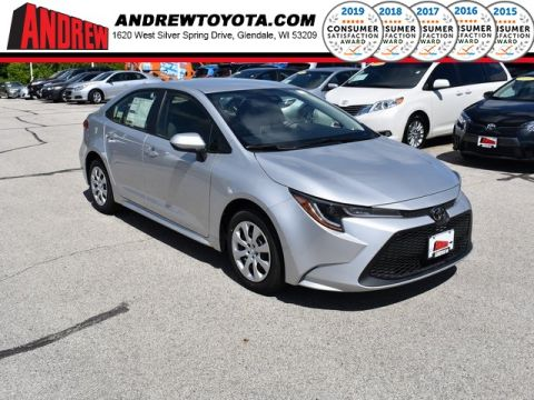 Stock #: 38033 Silver 2020 Toyota Corolla LE 4D Sedan in Milwaukee, Wisconsin 53209