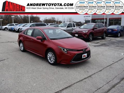 Stock #: 38838 Red 2020 Toyota Corolla XLE 4D Sedan in Milwaukee, Wisconsin 53209