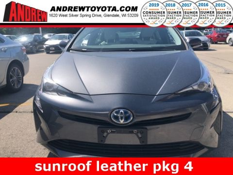 Stock #: 38534A Gray 2016 Toyota Prius Four 5D Hatchback in Milwaukee, Wisconsin 53209