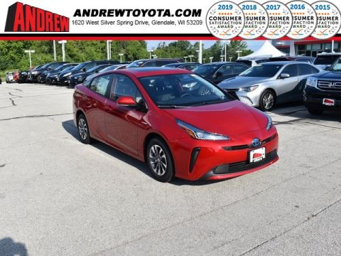 Stock #: 38404 Supersonic Red[extra_cost_color] 2019 Toyota Prius Limited 5D Hatchback in Milwaukee, Wisconsin 53209