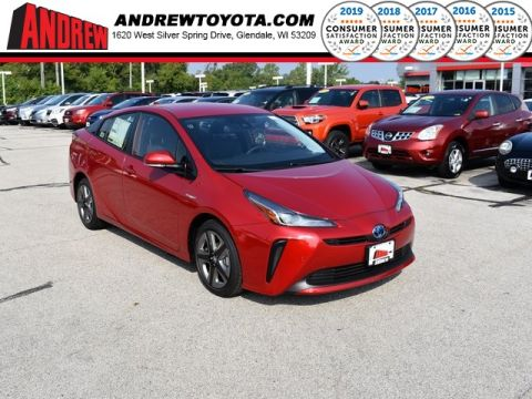 Stock #: 38586 Supersonic Red[extra_cost_color] 2019 Toyota Prius XLE 5D Hatchback in Milwaukee, Wisconsin 53209