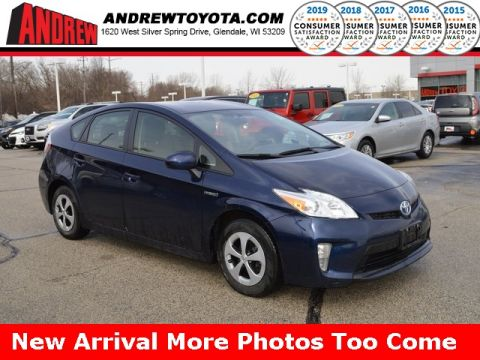 Stock 37113a Blue 2017 Toyota Prius Three 5d Hatchback In Milwaukee Wisconsin 53209