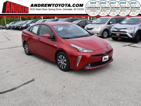 Stock #: 38695 Supersonic Red[extra_cost_color] 2020 Toyota Prius XLE AWD-e 5D Hatchback in Milwaukee, Wisconsin 53209