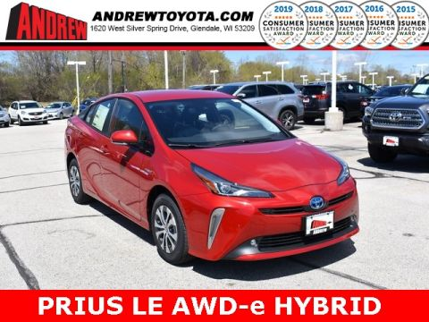 Stock #: 37918 Red 2019 Toyota Prius LE 5D Hatchback in Milwaukee, Wisconsin 53209