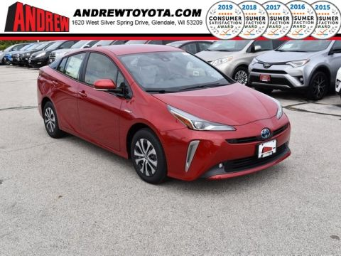 Stock #: 38696 Red 2020 Toyota Prius LE AWD-e 5D Hatchback in Milwaukee, Wisconsin 53209