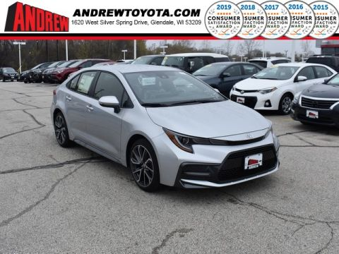 Stock #: 37923 Silver 2020 Toyota Corolla SE 4D Sedan in Milwaukee, Wisconsin 53209