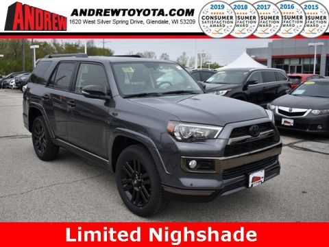 Stock #: 38036 Gray 2019 Toyota 4Runner Limited Nightshade 4D Sport Utility in Milwaukee, Wisconsin 53209